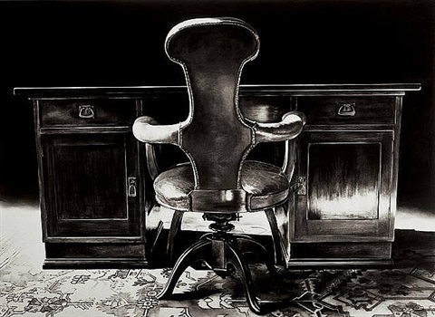 the freud cycle (freud's desk and chair, study room) by robert longo