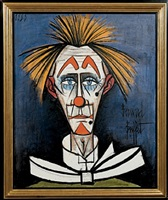 the blue clown by bernard buffet