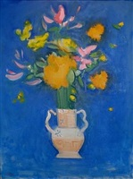 flowers in an italian vase by paul resika