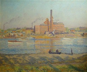 factory on river, roebling, nj by carroll sargent tyson jr.