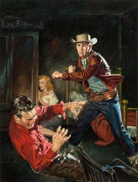 outlaw fury, paperback cover by george gross