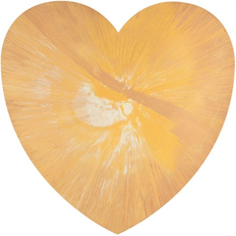 untitled heart spin painting by damien hirst
