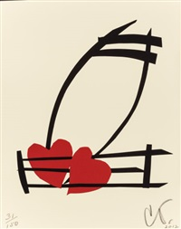 musical hearts (from the portfolio artists for obama) by claes oldenburg