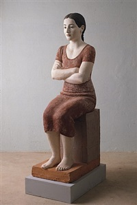mona im roten kleid by robert metzkes