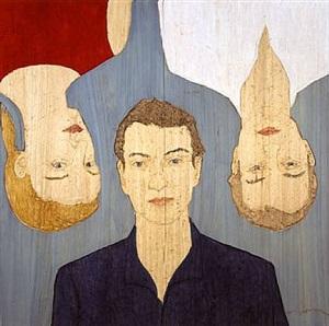 three heads by stephan balkenhol