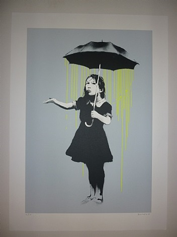 nola (yellow rain) by banksy