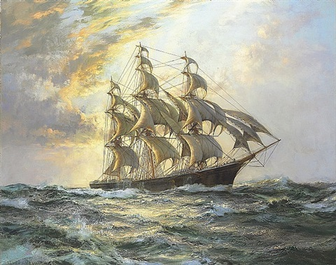 flying cloud by montague dawson