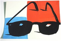 sunglasses (blue and red) by tom slaughter