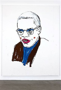 untitled (malcolm x) by glenn ligon