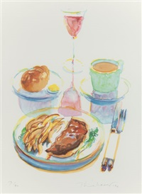trucker's supper (from the physiology of taste series) by wayne thiebaud