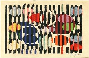 vintage deco agam rug by yaacov agam