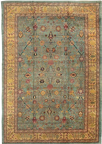 antique agra oriental rug