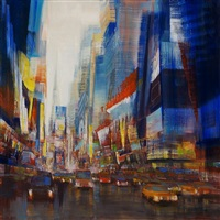 nyc, times square traffic (sold) by david allen dunlop