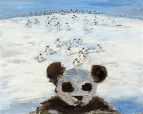 untitled panda and penguins by wang xingwei