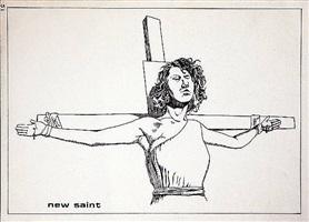 no title (new saint) by raymond pettibon