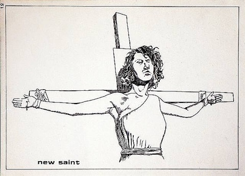 no title (new saint) by raymond pettibon