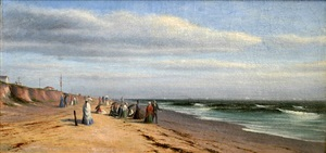 strolling along the bluff at long branch by francis augustus silva