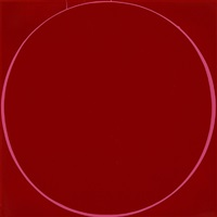 untitled dark red circle painting by ian davenport