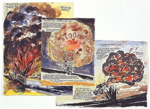 no title (they don't bring) by raymond pettibon