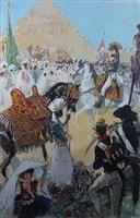 battle at giza by albert v. e. brenet