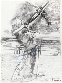 summer: sam and his crossbow by larry rivers