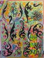 painting with ornamental fragments #ii by philip taaffe