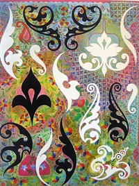 painting with ornamental fragments #iii by philip taaffe