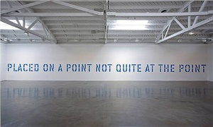 placed on a point not quite at the point by lawrence weiner