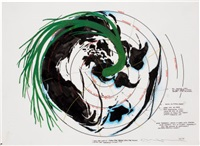 spin the world, spin the tree, spin the music (terrazzo study no.3) (+ 2 others; 3 works) by terry allen
