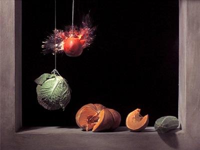 pomegranate: of balance by ori gersht