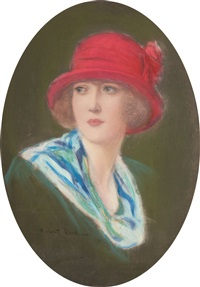 lady in a red hat by robert reid