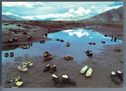 shoes with butter, lhasa by yin xiuzhen