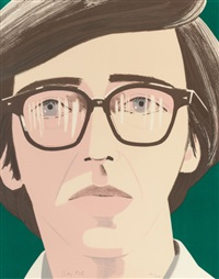 portrait of a poet: kenneth koch by alex katz
