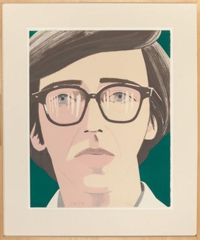 portrait of a poet kenneth koch by alex katz