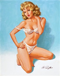 pin-up in lace by arthur saron sarnoff
