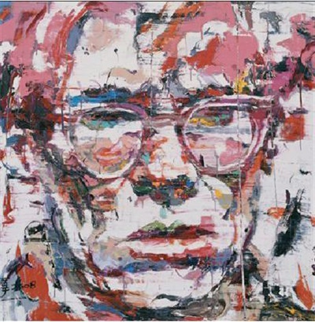another portrait andy warhol by ren zhenyu