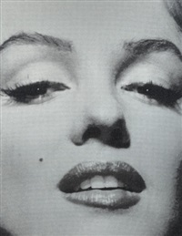 marilyn monroe portrait close-up: