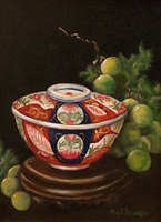 imari with grapes by gail larsen joseph