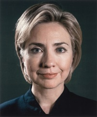hillary (portrait view) by chuck close