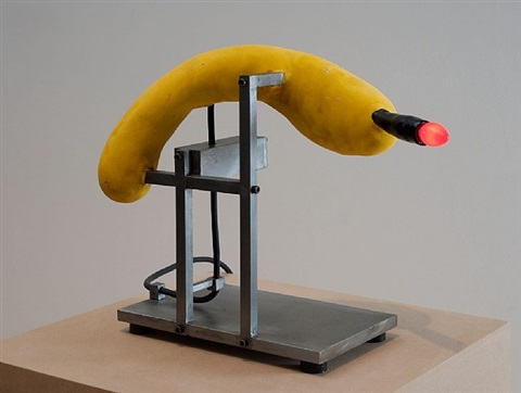 red black yellow table lamp by david lynch