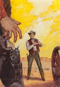 wear a fast gun, paperback cover by verne tossey