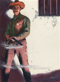 nothing but my gun, paperback cover by verne tossey