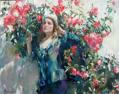 portrait in roses by val brutysky