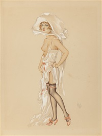 ziegfield girl (shirley vernon of ziegfield follies) by alberto vargas