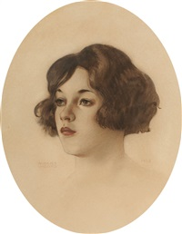 portrait of beatrice wolcott by alberto vargas