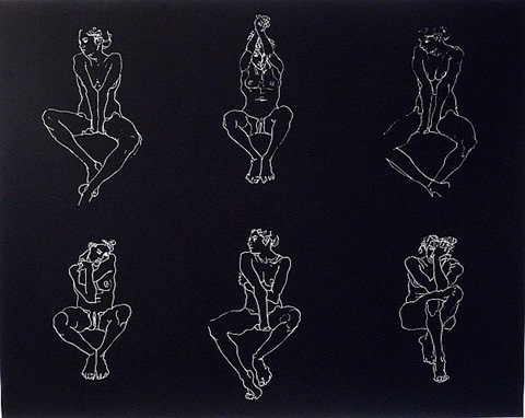 untitled, six nudes by robert graham