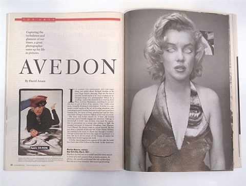 revised magazine/avedon - newsweek, september 13, 1993 by robert heinecken