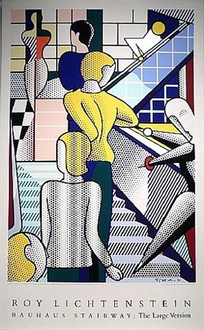 bauhaus stairway by roy lichtenstein
