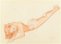 exuberance, legacy nude #4, preliminary study by alberto vargas