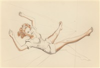 untitled (sketchbook study) by alberto vargas
